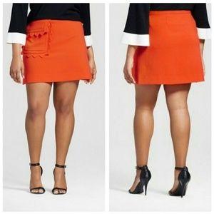 NWT Victoria Beckham x Target Orange Scallop Skirt